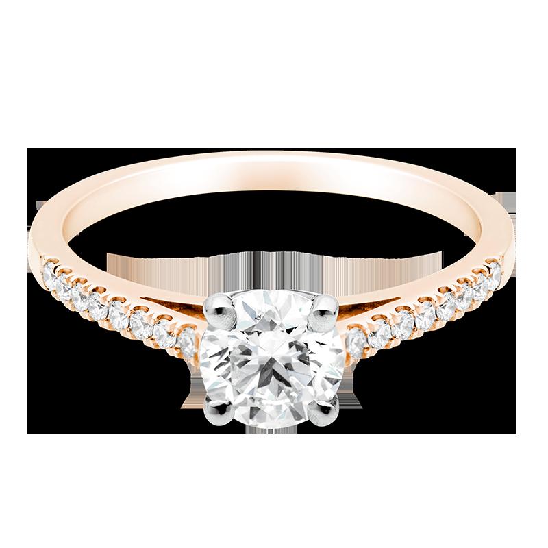 Round Brilliant Set with Diamonds, 18ct Rose Gold