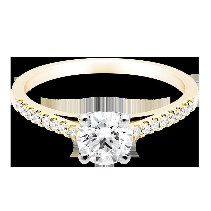 Round Brilliant Set with Diamonds, 18ct Yellow Gold
