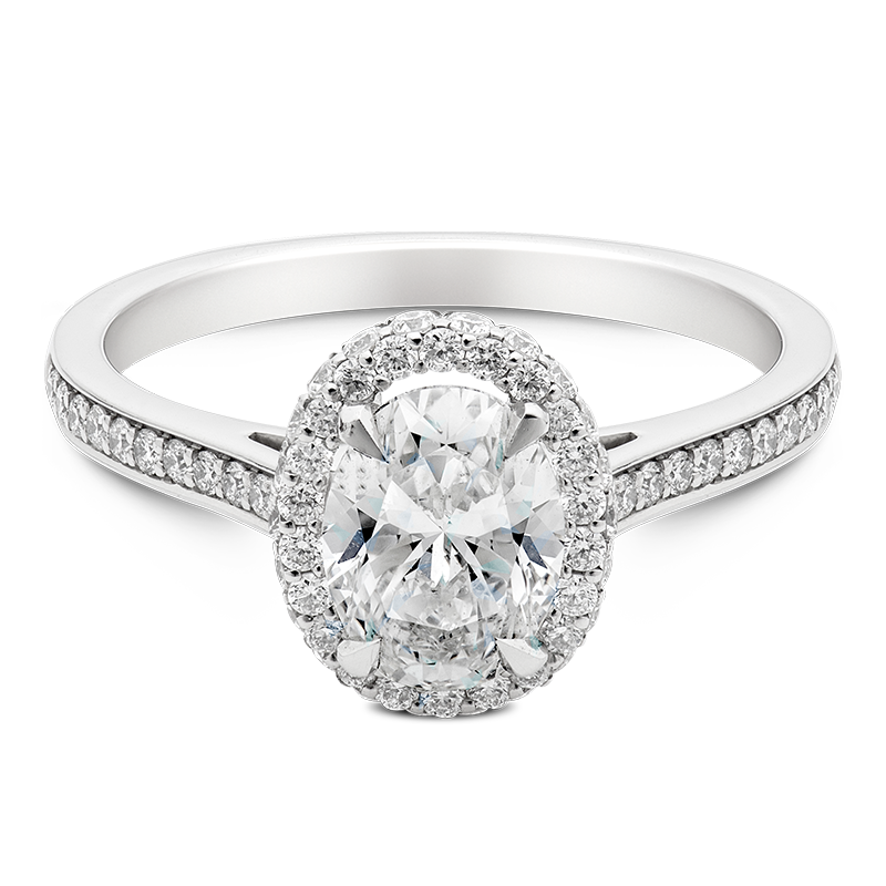 Oval Cut Halo, 18ct White Gold