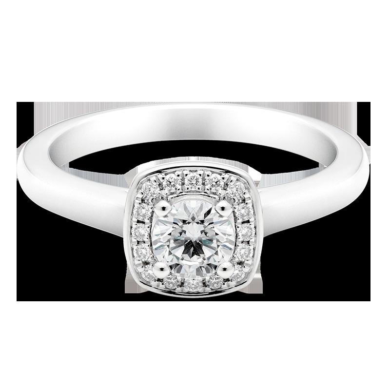 Round Brilliant Cluster Ring, Platinum