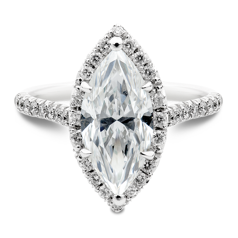 Marquise Cut Diamond Halo
