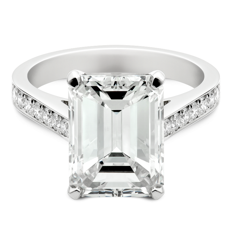 Emerald Cut with Shoulders, 5.03ct