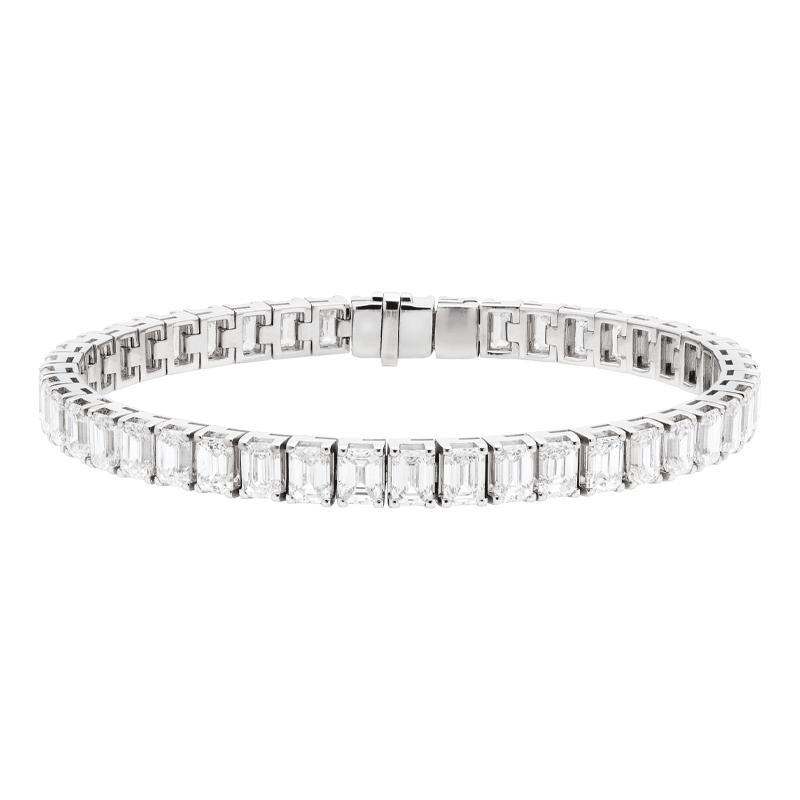 Emerald Cut Diamond Tennis Bracelet