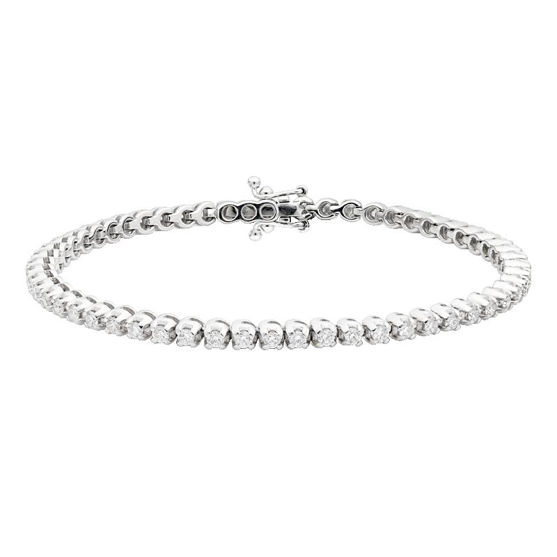 Classic Diamond Tennis Bracelet, 2.04ct