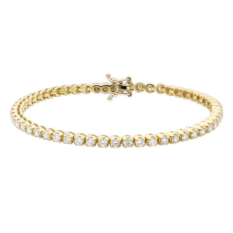 18ct Yellow Gold Diamond Tennis Bracelet, 3.04ct