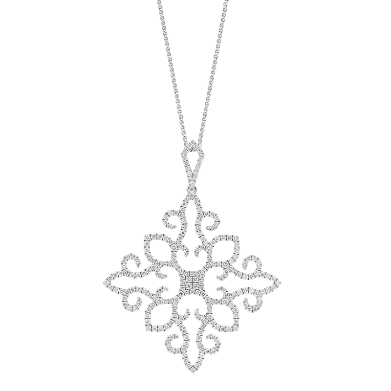 Modern Snowflake Style Pendant