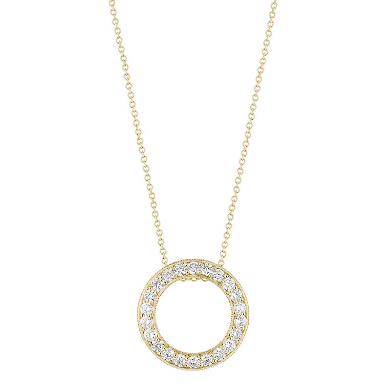 Open Circle Pendant, 18ct Yellow Gold