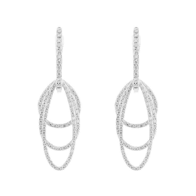 Three Layer Open Shaped Earrings